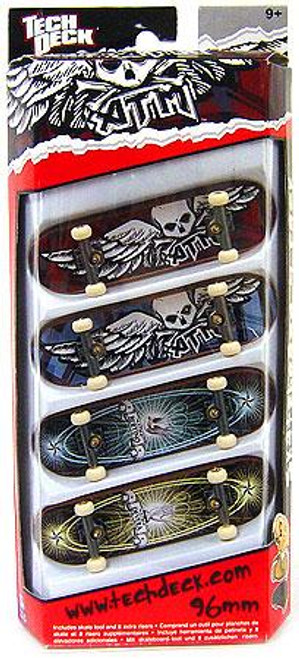Tech Deck ATM 96mm Mini Skateboard 4-Pack [Random Boards!]
