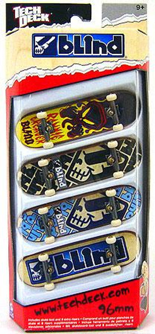 Tech Deck Blind 96mm Mini Skateboard 4-Pack [Ronnie Creager, Jani Laitialia, Kenny Axe & James Craig]