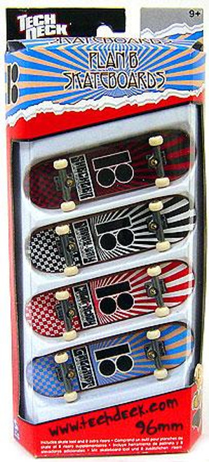 Tech Deck Plan B 96mm Mini Skateboard 4-Pack [Sheckler, Gallant]