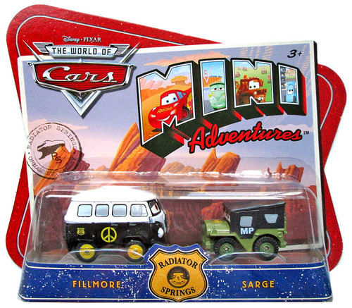 Disney Cars The World of Cars Mini Adventures Fillmore & Sarge Plastic Car 2-Pack