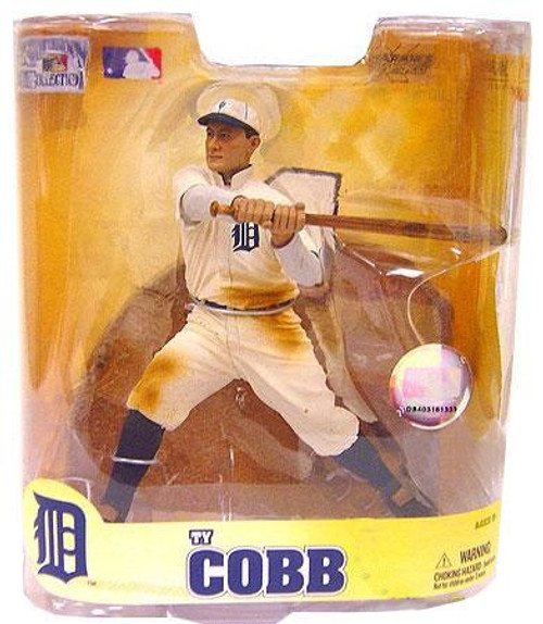 McFarlane Toys MLB Detroit Tigers Cooperstown Collection Series 5 Ty Cobb Action Figure [White Uniform]