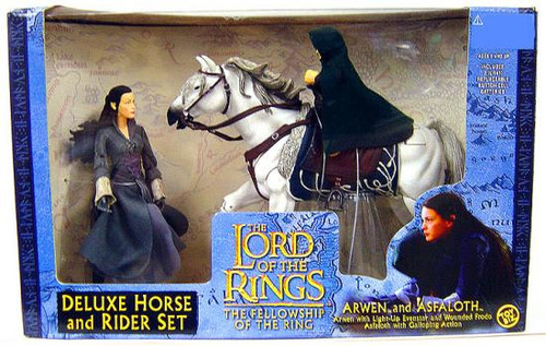 The Lord of the Rings The Fellowship of the Ring Deluxe Horse and Rider Set Arwen & Asfaloth Action Figure Set