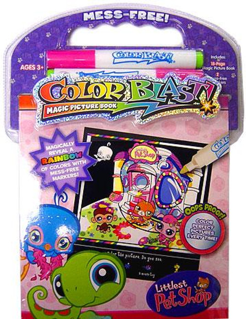 Littlest Pet Shop Color Blast Magic Picture Book
