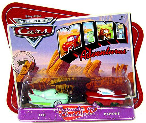 Disney Cars The World of Cars Mini Adventures Parade of Classics Plastic Car 2-Pack [Flo & Ramone]