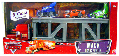 Disney Cars The World of Cars Playsets Mack Transporter Exclusive Diecast Car Playset [Set #1]