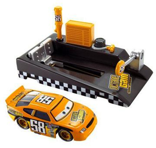 Disney Cars Pit Row Race-Off Octane Gain No. 58 Diecast Car [Includes Launcher]