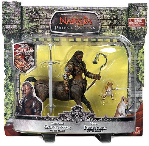 The Chronicles of Narnia Prince Caspian Centaur Glenstorm & Mouse Peepicheek Action Figure 2-Pack