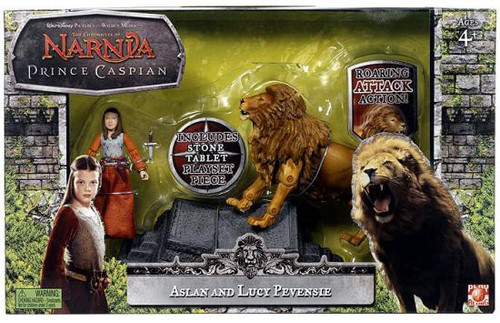 The Chronicles of Narnia Prince Caspian Aslan & Lucy Pevensie Action Figure 2-Pack