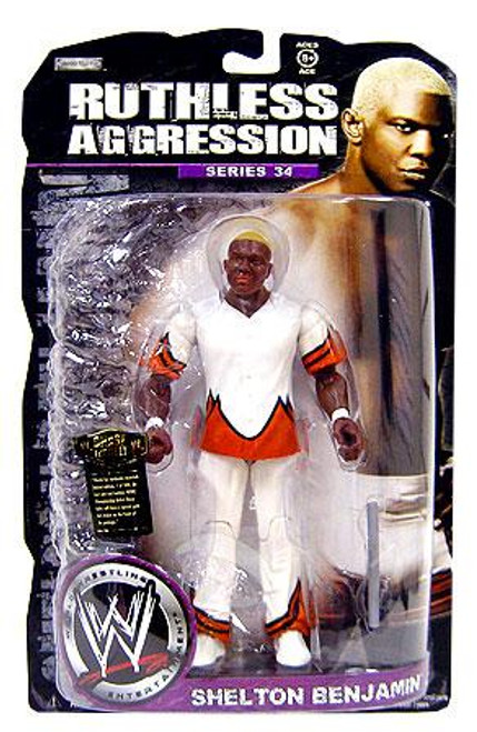 WWE Wrestling Ruthless Aggression Series 34 Shelton Benjamin Action Figure