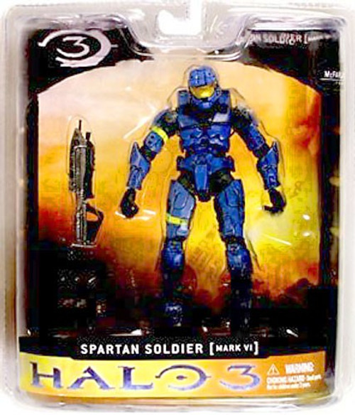 McFarlane Toys Halo 3 Series 1 Spartan Soldier MARK VI Exclusive Action Figure [Blue]