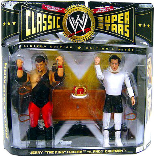 WWE Wrestling Classic Superstars Series 8 Andy Kaufmann & Jerry Lawler Exclusive Action Figure 2-Pack