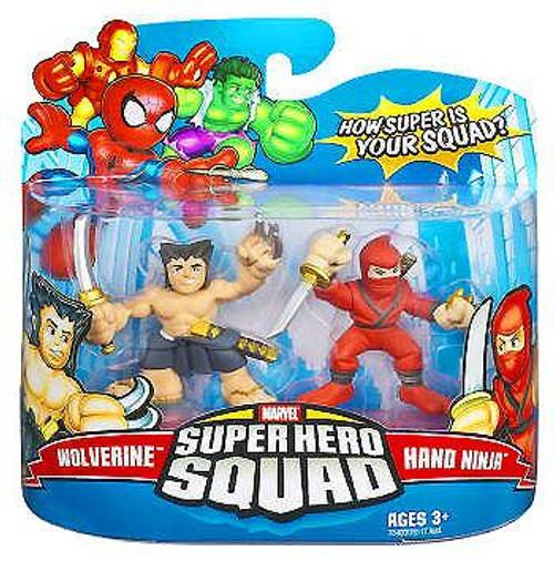 Marvel Super Hero Squad Series 8 Wolverine & Hand Ninja Action Figure 2-Pack