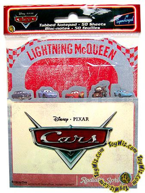 Disney Cars Cars Tabbed Notepad