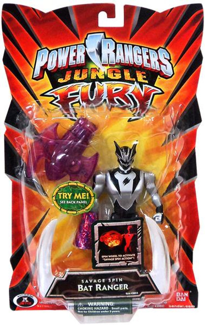 Power Rangers Jungle Fury Savage Spin Bat Ranger Action Figure