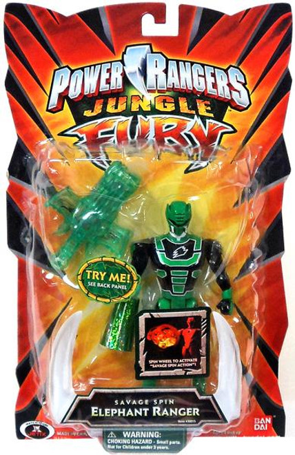 Power Rangers Jungle Fury Savage Spin Elephant Ranger Action Figure