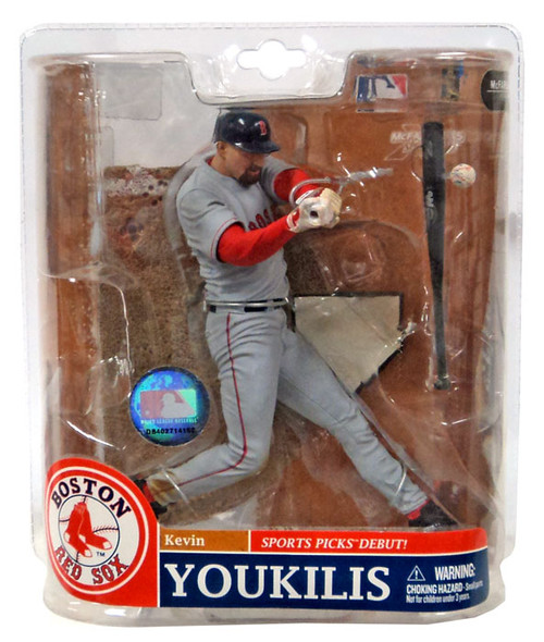 McFarlane Toys MLB Sports Picks Series 20 Exclusive Kevin Youkilis (Boston Red Sox) Exclusive Action Figure [Gray Jersey Variant]