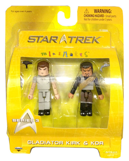 Star Trek The Original Series Minimates Series 3 Gladiator Kirk & Kor Minifigure 2-Pack