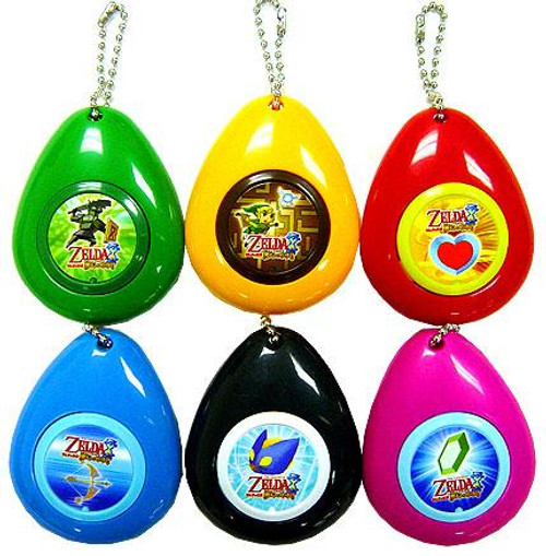 The Legend of Zelda Phantom Hourglass Nintendo DS Set of 6 Sound Effect Keychains