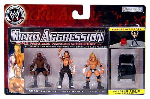 WWE Wrestling Micro Aggression Series 8 Mini Figure 3-Pack [Folding Chair]