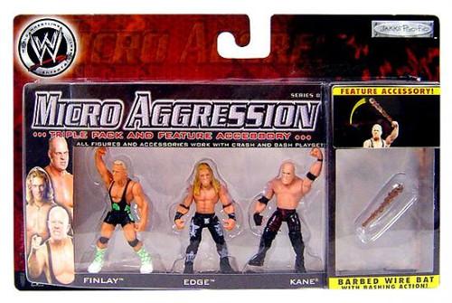 WWE Wrestling Micro Aggression Series 8 Mini Figure 3-Pack [Barbed Wire Bat]