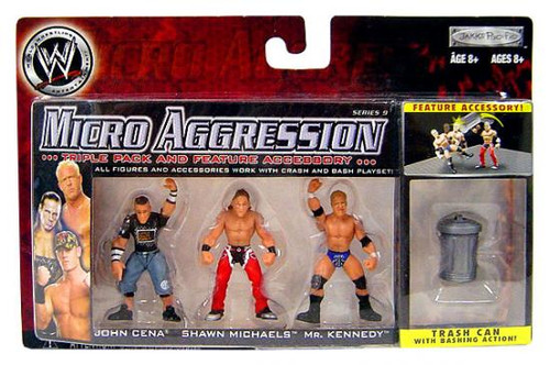 WWE Wrestling Micro Aggression Series 9 Mini Figure 3-Pack [Trash Can]