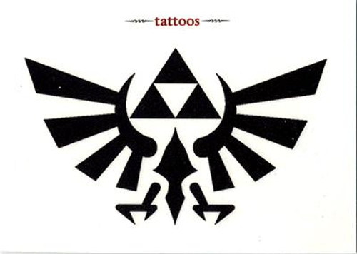 The Legend of Zelda Twilight Princess Symbol of Hyrule Temporary Tattoo #1
