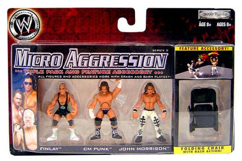 WWE Wrestling Micro Aggression Series 9 Mini Figure 3-Pack [Folding Chair]