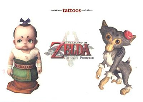 The Legend of Zelda Twilight Princess Malo & Monkey Temporary Tattoo #3