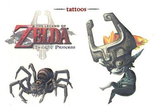 The Legend of Zelda Twilight Princess Midna & Armogohma Temporary Tattoo #4