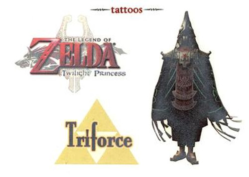 The Legend of Zelda Twilight Princess King Zant & Triforce Temporary Tattoo #5
