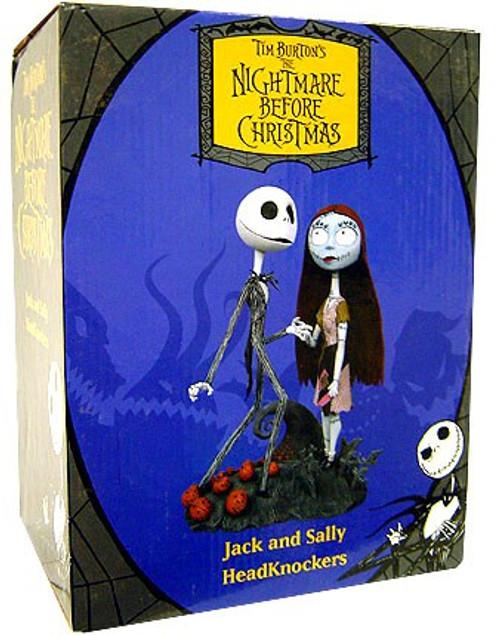 NECA The Nightmare Before Christmas Jack & Sally Head Knockers