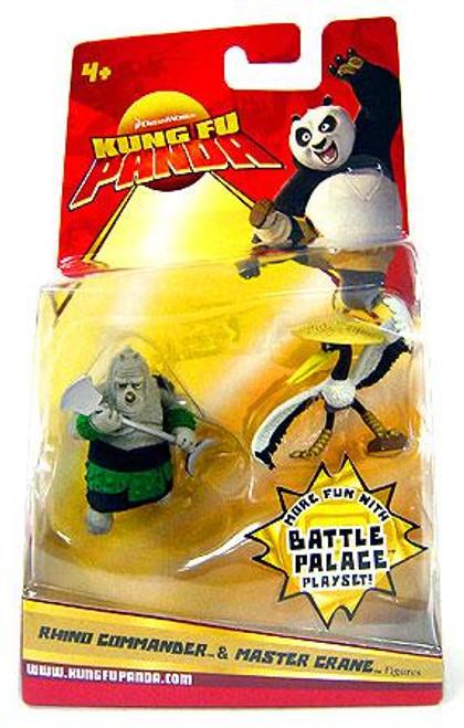 Kung Fu Panda Rhino Commander & Master Crane Mini Figure 2-Pack