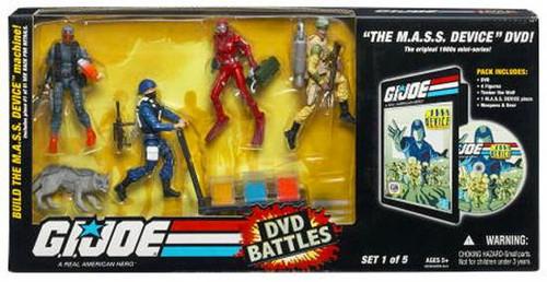 GI Joe DVD Battles The M.A.S.S. Device Action Figure Set #1