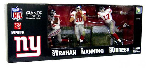 McFarlane Toys NFL Sports Picks 3-Packs New York Giants Championship Exclusive Action Figure 3-Pack