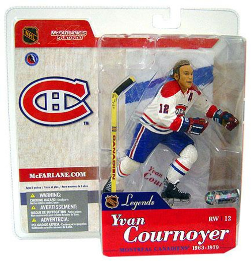 McFarlane Toys NHL Montreal Canadiens Sports Picks Legends Series 1 Yvan Cournoyer Action Figure [White Jersey Variant]