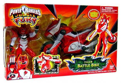 Power Rangers Jungle Fury Tiger Battle Bike Action Figure Vehicle