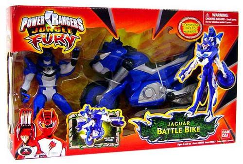 Power Rangers Jungle Fury Jaguar Battle Bike Action Figure Vehicle