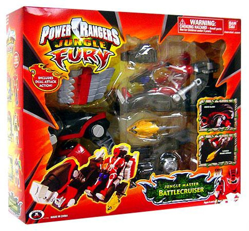 Power Rangers Jungle Fury Jungle Master Battlecruiser Action Figure Vehicle