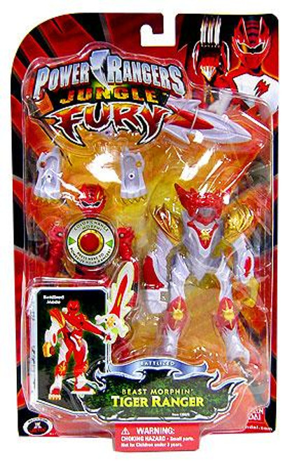 Power Rangers Jungle Fury Battlized Beast Morphin Tiger Ranger Action Figure