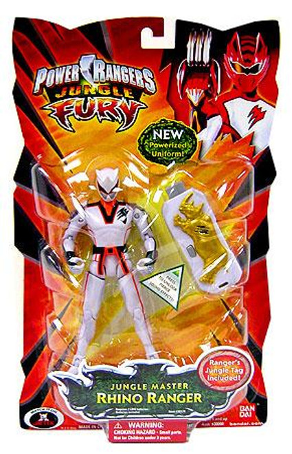 Power Rangers Jungle Fury Jungle Master Rhino Ranger Action Figure