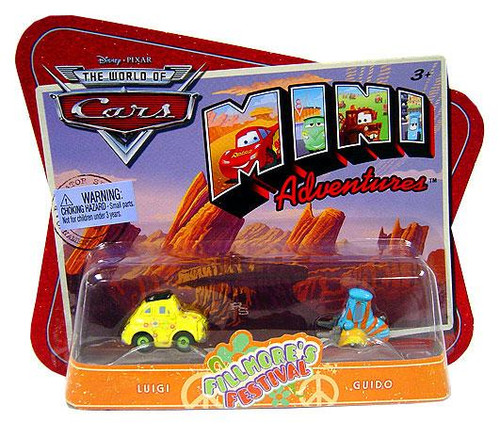 Disney Cars The World of Cars Mini Adventures Fillmore's Festival Plastic Car 2-Pack [Luigi & Guido]