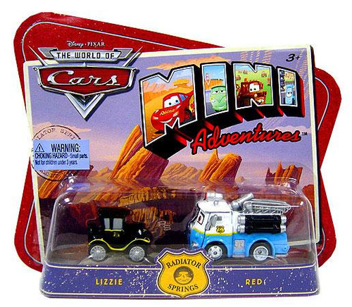 Disney Cars The World of Cars Mini Adventures Lizzie & Red Plastic Car 2-Pack