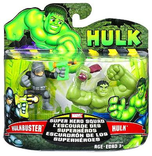 Marvel Super Hero Squad Hulk Movie Series 1 Hulk & Hulk Buster Action Figure 2-Pack