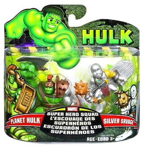 Marvel Super Hero Squad Hulk Movie Series 1 Planet Hulk & Silver Savage Action Figure 2-Pack
