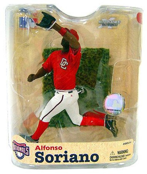 McFarlane Toys MLB Washington Nationals Sports Picks Series 21 Alfonso Soriano Action Figure [Red Nationals Jersey Variant]