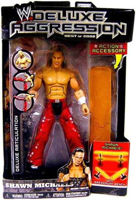 WWE Wrestling Deluxe Aggression Best of 2008 Shawn Michaels Action Figure