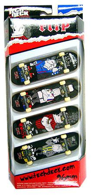 Tech Deck Flip 96mm Mini Skateboard 4-Pack [Rune Glifberg, Lance Mountain, Bob Burnquist & Mark Appleyard]