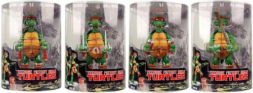NECA Teenage Mutant Ninja Turtles Mirage Comic Raphael, Donatello, Leonardo & Michaelangelo Action FIgure Set [Tube Packaging]