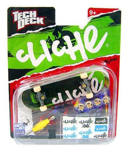 Tech Deck Cliche 96mm Mini Skateboard [Green Tread]