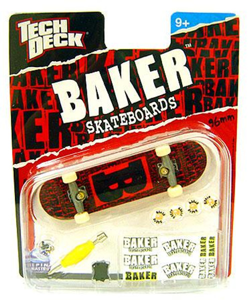 Tech Deck Baker 96mm Mini Skateboard [Red & Black]